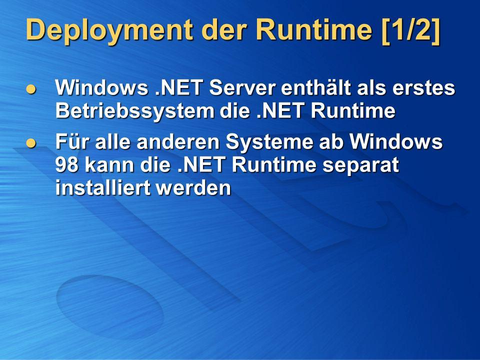Deployment der Runtime [1/2]